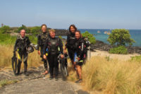 A Happy Dive Group. We located an acceptable dive site today! ©2011 Andrew Cooper behind the lens.