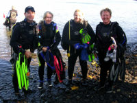 One Small Group of Dive Buddies: Dave, Lori, Joy, and Deb.  A few of the many that turned out to support the efforts.