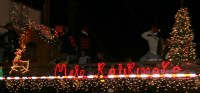 One of the great floats in the Waimea Christmas Twilight Parade on December 6, 2008.