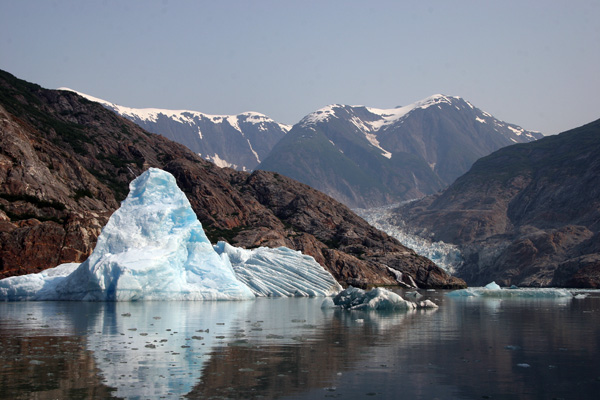 Icebergs a floatin' every where along Tracy Arm, Alaska!