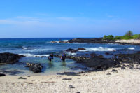 Our Shore Diving Entry Point at Old Kona Airport State Recreation Area.